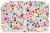 Perles cubiques alphabet multicolore - 280 perles - Bijoux Shamballas 14483 - 10doigts.fr