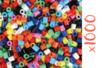 Perles fusibles opaques - 1 set de 1000 perles - Perles fusibles 5 mm 16151 - 10doigts.fr