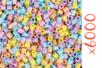 Perles fusibles pastels - 6000 pcs - Perles fusibles 5 mm 16155 - 10doigts.fr