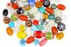 Perles indiennes chevrons en verre - 40 perles - Bijoux Shamballas 12411 - 10doigts.fr