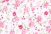 Coupon de tissu en coton imprimé (43 x 53 cm) - Fleuris rose - Coupons de tissus 13951 - 10doigts.fr