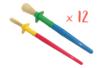 Pinceaux assortis : 12 moyennes touffes ø 1 cm  + 12 grosses touffes ø 1,5 cm  - Set de 24 - Brosses 08730 - 10doigts.fr