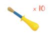 Pinceaux gros manche boule (touffe ø 1,5 cm)  - Set de 10 - Brosses 05606 - 10doigts.fr