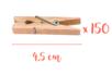 Pinces à linge 4,5 cm -  3 lots de 50 (150 pinces) - Pinces à linge classiques 05863 - 10doigts.fr