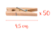 Pinces à linge 4,5 cm - Lot de 50 - Pinces à linge classiques 05757 - 10doigts.fr