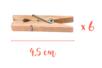 Pinces à linge 4,5 cm - Lot de 6 - Pinces à linge classiques - 10doigts.fr