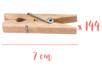 Pinces à linge 7 cm - 4 lots de 36 (144 pinces) - Pinces à linge classiques 06392 - 10doigts.fr