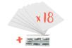 Carton mousse adhésif - Set de 18 plaques A4 + un CUTTER OFFERT  - Carton Plume et Polystyrène 34177 - 10doigts.fr
