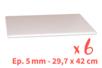 Plaques de carton-plume 28.3 x 41.5 cm - 6 plaques - Carton Plume et Polystyrène 18398 - 10doigts.fr