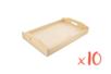 Plateau en bois 20 x 30 cm, 10 pcs - Plateaux en bois 11688 - 10doigts.fr