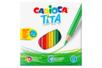 Crayons de couleur Carioca - 24 crayons - Crayons de couleurs 31132 - 10doigts.fr
