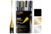 Marqueurs POSCA pointes moyennes (1,8 à 2,5 mm) PC5M - Set de 4 - Marqueurs Posca - 10doigts.fr