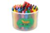 Pot de 60 maxi crayons cire ultra résistants + 1 taille crayon - Crayons cire 35049 - 10doigts.fr