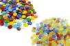PROMO : 200 galets en verre couleurs brillantes + 200 galets en verre effet Oeil de chat - Mosaïques verre 31155 - 10doigts.fr