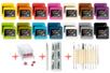 SUPER KIT DE DÉMARRAGE : 28 pains de 50 gr + Cutter + Magic roller + outils de modelage - Pâtes PATATI PATATA 12670 - 10doigts.fr