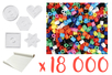 Super pack 18000 perles + OFFERT : 5 plaques + 1 rouleau de papier à repasser - Perles fusibles 5 mm 15268 - 10doigts.fr