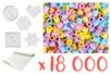 Kit perles pastel - 18 000  perles + 5 plaques + 1 rouleau de papier sulfurisé - Kits créatifs prêt à l'emploi 15269 - 10doigts.fr