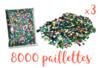 Paillettes couleurs assorties en vrac - PROMO 3 Sets de 8000 pces - Paillettes facettes avec trou 11003 - 10doigts.fr