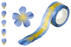 Rouleau Washi stickers Fleurs bleues - 200 stickers - Masking tape (Washi tape) 31170 - 10doigts.fr