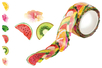 Rouleau Washi stickers Tropical - 200 stickers - Masking tape (Washi tape) 31174 - 10doigts.fr