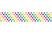 Ruban adhésif fantaisie : Coeurs arc-en-ciel - Adhésifs simple ou double-face 32012 - 10doigts.fr