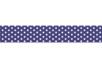 Ruban adhésif fantaisie : Bleu marine + pois blancs - Adhésifs simple ou double-face 27917 - 10doigts.fr