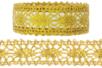 Ruban dentelle adhésif métallisé doré - Rubans et ficelles 27854 - 10doigts.fr