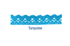 Ruban dentelle en coton auto-adhésif turquoise - Rubans et ficelles 13975 - 10doigts.fr