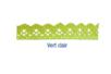 Ruban dentelle en coton auto-adhésif vert clair - Rubans et ficelles 13974 - 10doigts.fr