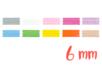 Rubans en satin (largeur 6 mm), 10 couleurs - 3 m - Rubans et ficelles - 10doigts.fr
