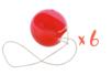 Nez de clown en plastique + élastique - Lot de 6 - Mardi gras, carnaval 33176 - 10doigts.fr