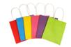 Sacs en papier kraft couleurs assorties -  Set de 6 - Papiers cadeaux 29647 - 10doigts.fr