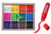 Bâtons de gouache solide- Schoolpack de 144 bâtons  - Peinture gouache solide 40547 - 10doigts.fr