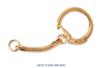 Porte-clefs dorés - Lot de 10 - Porte-clefs, Anneaux, Mousquetons 05000 - 10doigts.fr