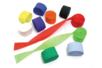 Set de 10 rouleaux de papier crépon 5 cm x 25 m - couleurs assorties - Papier crépon - 10doigts.fr