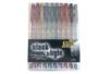 Set de 10 stylos bille encre gel, couleurs métallisées assorties - Stylo bille encre gel 04813 - 10doigts.fr