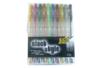 Set de 10 stylos bille encre gel, couleurs pailletées assorties - Faire Part 04812 - 10doigts.fr