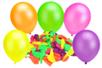 Set de 100 ballons ronds, couleurs fluos assorties - Ballons, guirlandes, serpentins - 10doigts.fr