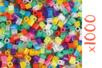 Perles fusibles translucides - 1 set de 1000 perles - Perles à repasser 16156 - 10doigts.fr