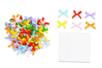 Set de 105 nœuds ruban multicolores + pastilles adhésives - Rubans et ficelles - 10doigts.fr
