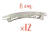 Barrettes à cheveux 8 cm x 0,9 cm - 12 pièces - Accessoires pour plastique magique 01529 - 10doigts.fr