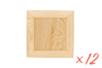 Cadre en bois carré - Lot de 12 - Cadres photos 11685 - 10doigts.fr