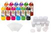 Set de 12 flacons 500 ml d'encre à dessiner + CADEAUX de 12 pots et 12 pipettes - Encres liquides 35090 - 10doigts.fr