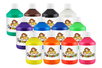 Peinture acrylique 500 ml - 12 couleurs - Acryliques scolaire 12226 - 10doigts.fr