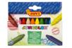 Set de 12 maxi crayons cire ultra résistants - Crayons cire 35047 - 10doigts.fr