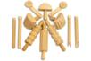 Outils en bois, pour le modelage - 12 Outils - Dessin 1er âge 11014 - 10doigts.fr