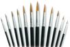 12 pinceaux poils de poney (12 tailles assorties : du N°06 au N°20) - Pinceaux 05960 - 10doigts.fr
