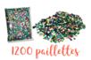 Paillettes couleurs assorties en vrac - 1200 pces - Paillettes facettes avec trou 10299 - 10doigts.fr