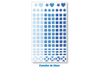 1 set de 147 stickers mosaïques bleus - Mosaïques plastique 11549 - 10doigts.fr