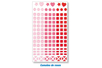 1 set de 147 stickers mosaïques roses - Stickers divers 11553 - 10doigts.fr